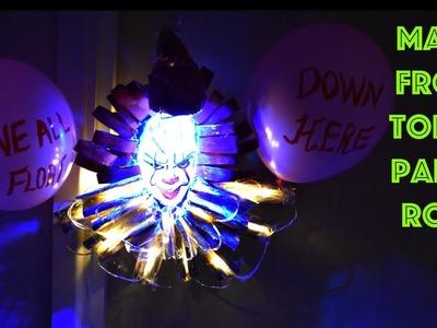 Halloween Decor | Halloween Wreath from Toilet Paper Roll
