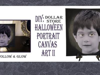 HALLOWEEN DIY. CANVAS PORTRAIT ART2. DOLLAR TREE