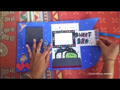 Happy Diwali Greeting Cards For Brother | Handmade Diwali Card DIY CRAFTS