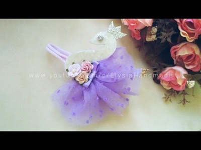 Headband Ideas : Swan Tutu Headband | DIY by Elysia Handmade