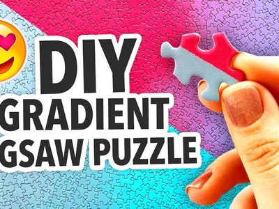 HOW TO MAKE A DIY GRADIENT JIGSAW PUZZLE | @karenkavett