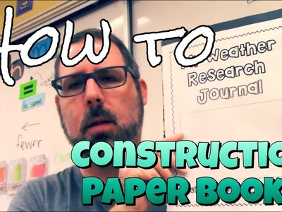 How To Make Books Out of Construction Paper