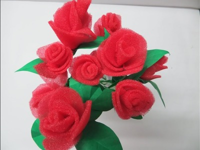 How to make bunch of Roses using foam within 10 minutes.