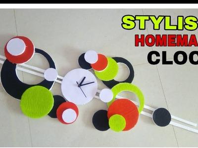 How to make clock    Diy Stylish Clock    Foam sheet homemade clock