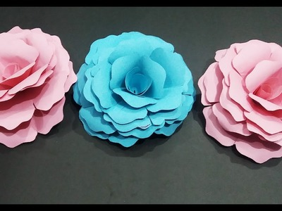 How to make realistic paper rose without any measurements| (complete tutorial) ????????????????