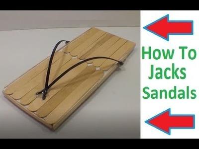 How To Make Samurai Jacks Sandals