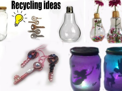 How to re use.recycle daily stuff.waste.DIY  inexpensive crafts for decoration.2017