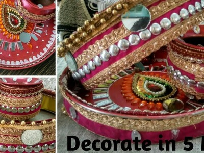 Karawachauth| DIY Channi and karwa decoration| Thali decoration
