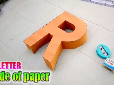 Learn to make 3d letters from paper, letter R r
