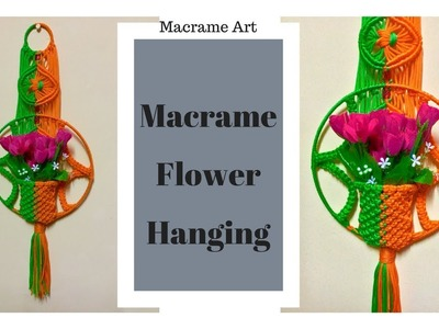 Macrame flower hanging | diy wall decor idea | MacrameArt