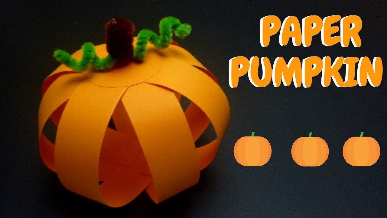 Make a Paper Pumpkin Using Strips of Paper | Paper Crafts for Kids