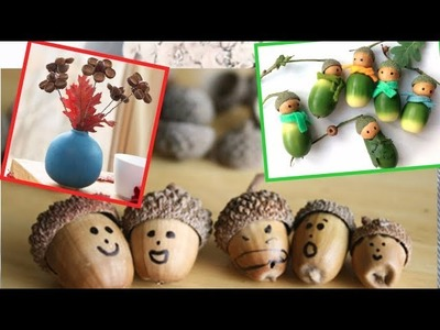 Make DIY acorn crafts for decorating to Make and Sell.