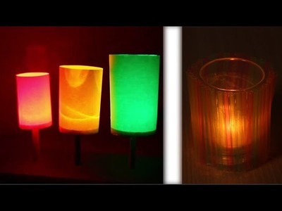 Make Rainbows Lantern With Straw - diy Lampshade