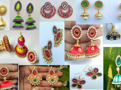 My overall earrings collection. DIY Party Earrings. Designer Jumkas Collection . Fashion Monk