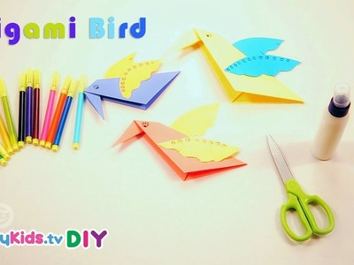 Origami Birds | Paper Crafts | Kid's Crafts and Activities | Happykids DIY