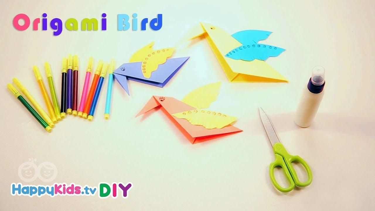 Origami Birds   Paper Crafts   Kid's Crafts and Activities   Happykids DIY