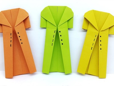 Origami Coat instructions - How to make a Paper Coat