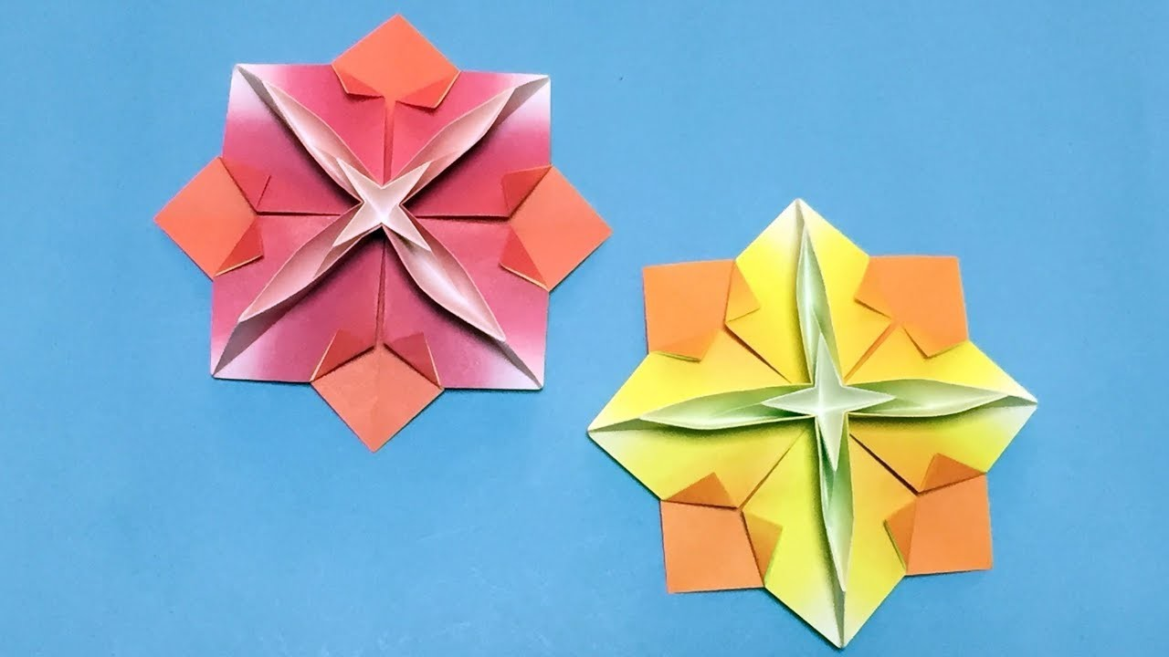 How Origami Flower Tutorials Step By Step With Only One Piece Of