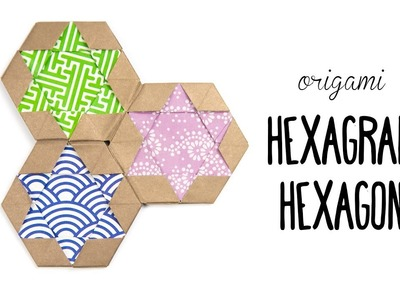 Origami Hexagram Tiles.Coaster ✡ Star of David ✡ Paper Kawaii