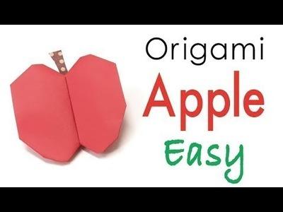 Origami Paper Apple | Cách xếp quả táo bằng giấy