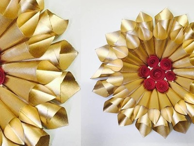 Paper Cones Wall Decoration idea | Wall Hanging ideas with Paper Cones