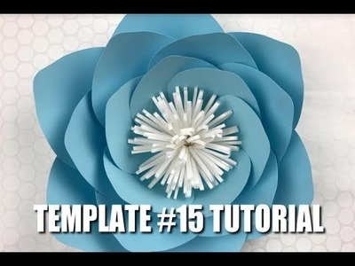 Paper Flower Tutorial using Template 15