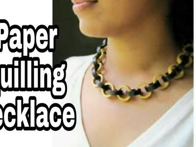 Paper necklace   paper quilling art   paper quilling jewellery   paper jewellery   paper chokar