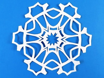 Paper snowflake challenge. Detailed tutorial  Advanced level. Can YOU do it