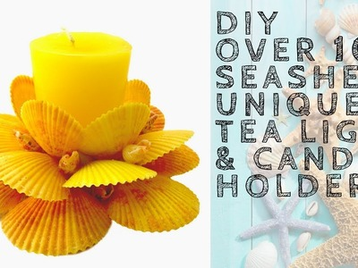 Seashell Arts and Crafts DIY - Over 100 Unique Tea Light and Candle Holders