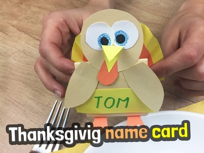 Thanksgiving paper name cards | Nice decoration for festive table