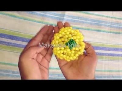 পুতির ফল  পুতির বাঙ্গি  How to make beaded fruit  beaded melons  putit fol