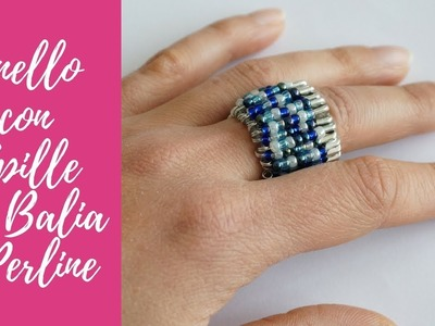 Tutorial: Anello con Spille da Balia e Perline (SUB ENGS - DIY safety pins&beads simple ring)