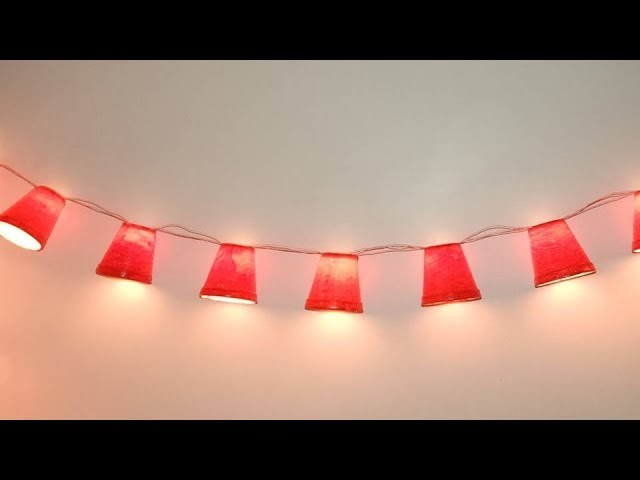 Unique Best Cup Lights Diwali Decoration at Home. DIY Diwali Home Decor For Diwali & Christmas