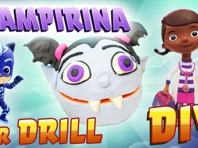Vampirina Dr Drill N Fill Play-Doh Face DIY! Doc McStuffins & PJ Masks Catboy! Learn Colors!