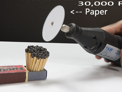 WHAT HAPPENS WHEN YOU CUT 100 MATCHSTICKS WITH PAPER? High SPEED rotation