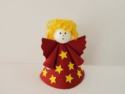 Xmas deco angel Christmas decoration angel DIY papercraft crafting with paper and sisal