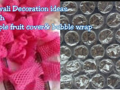 3 DIY|| Diwali decorations With Bubble Wrap&apple fruit cover||Best Out Of Waste. !