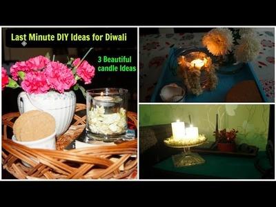 3 Quick and Easy Last Minute Diwali Decoration Ideas   DIY Diya   Organizopedia