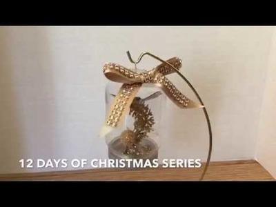 Beautiful DIY Christmas Ornaments ~ Dollar Tree ~ AC Moore ~ Michaels ~Series 12 DAYS OF CHRISTMAS
