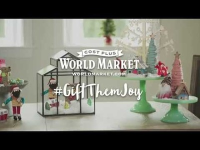 Brandi Milloy with DIY Holiday Terrarium Centerpiece by Cost Plus World Market
