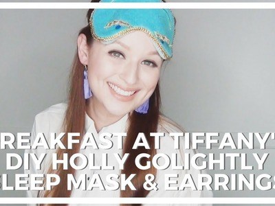 Breakfast At Tiffany's Halloween Costume ♥ DIY Holly Golightly Sleep Mask and Earrings