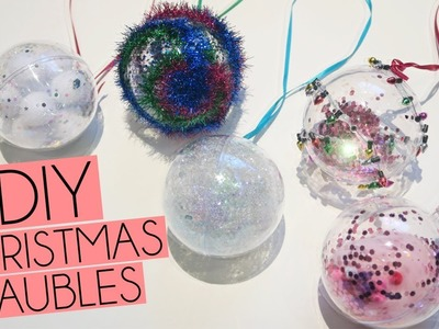 DIY 5 Fillable Christmas Glitter Bauble Ideas | Paige Joanna