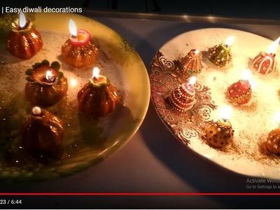 DIY atta diya | Easy diwali decorations