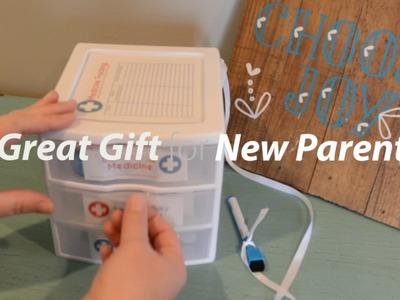 DIY Baby Gift Medicine Cabinet