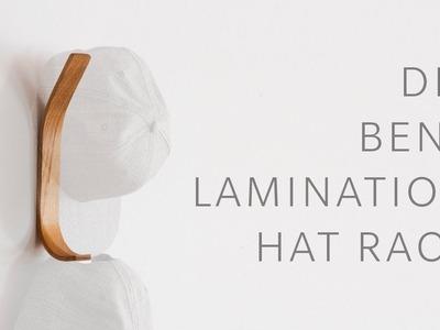 DIY Bent Lamination Hat Rack - Woodworking