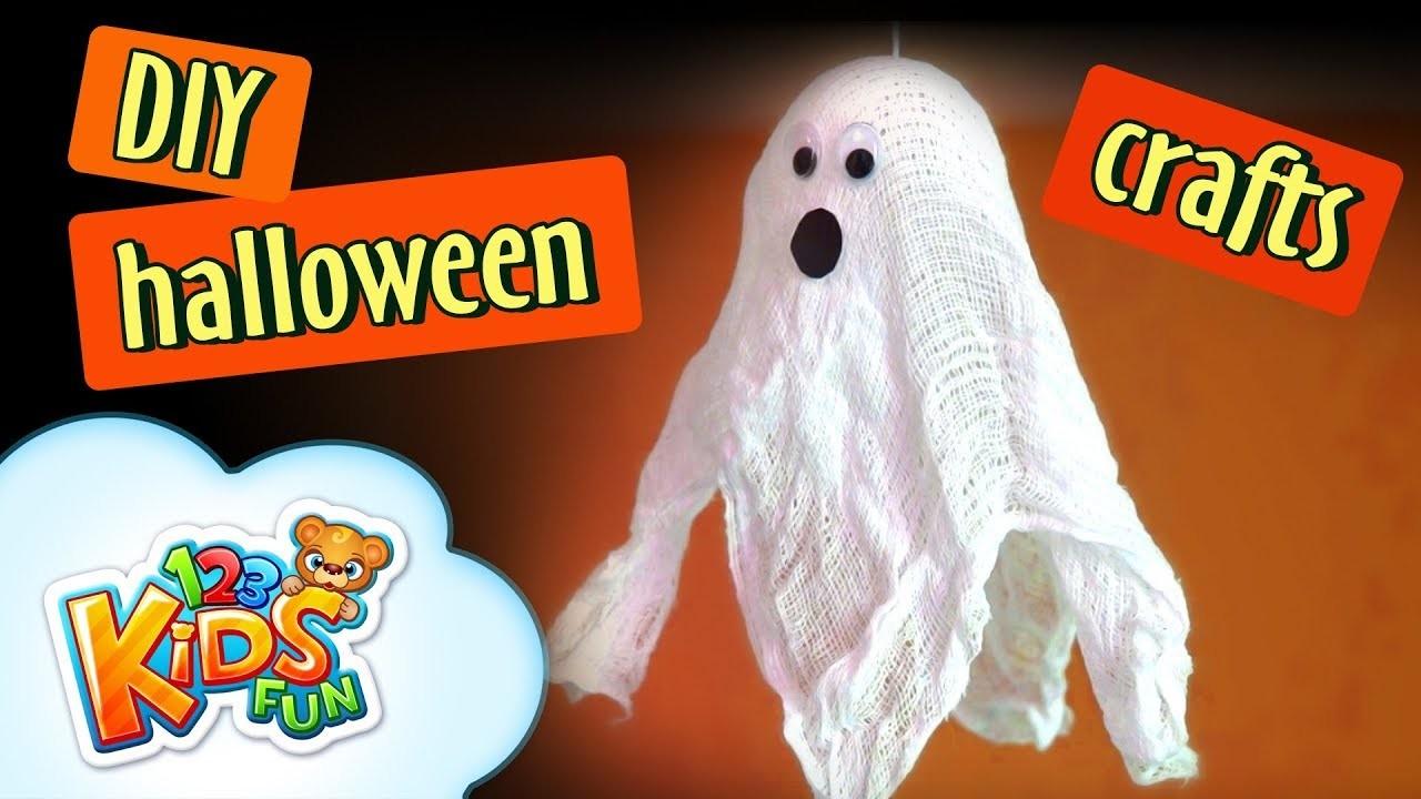 ???????? DIY by Creative Mom | Halloween DIY | 3d Halloween Ghost by 123 Kids Fun ????????