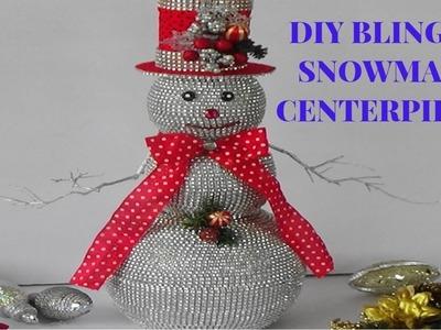 DIY CHRISTMAS CENTERPIECE (SNOWMAN)