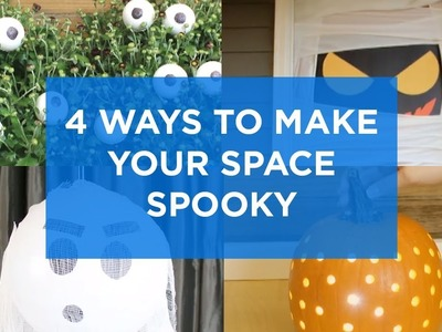 DIY Decorations: 4 Frightfully Easy Halloween Decorating Hacks