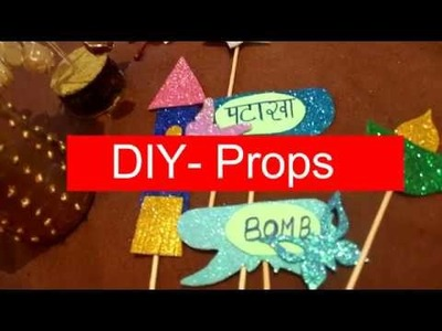 DIY Diwali.Christmas Home Decoration Ideas | How to make Diwali Props