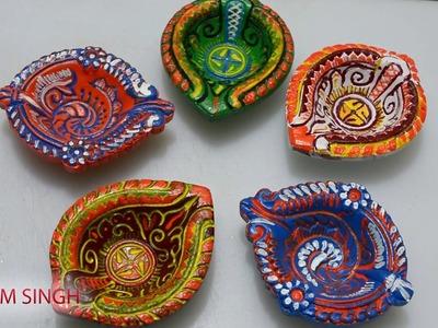 DIY Diwali Diya Decoration. How to make Beautiful Diye